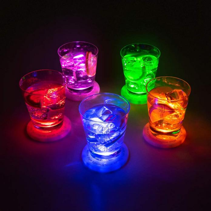 aperitif accessoire gadget dessous de verre led