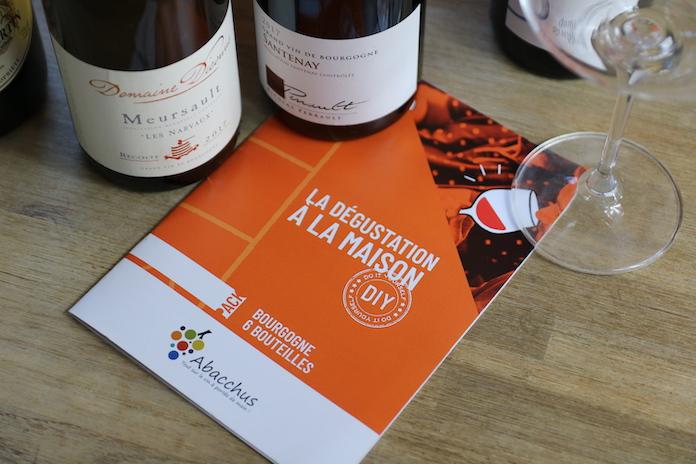 test avis abacchus degustation de vin livret