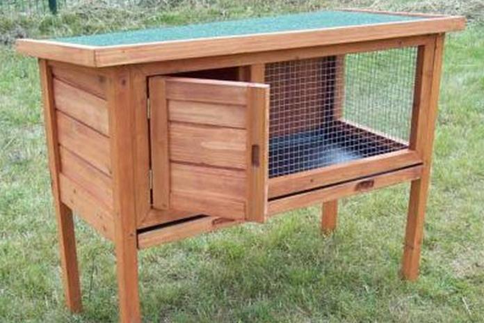 amenagement exterieur mobilier jardin clapier bois lapin