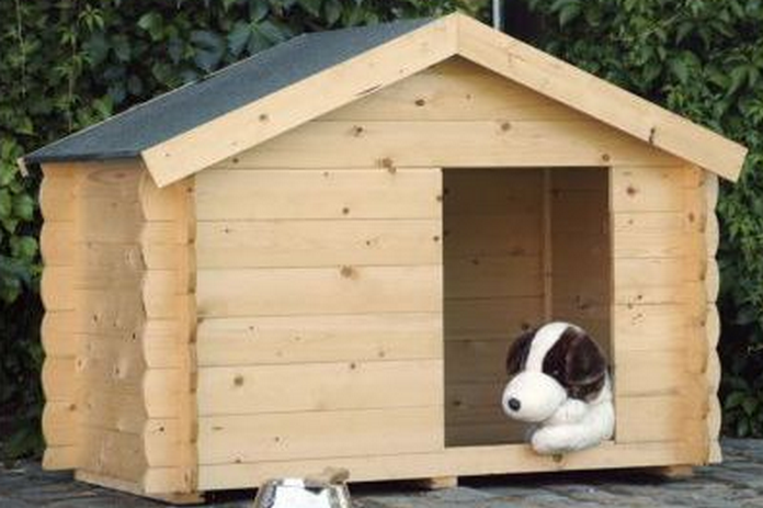 amenagement jardin mobilier exterieur niche bois chien chat