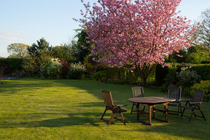 amenagement jardin salon barbecue piscine mobilier exterieur