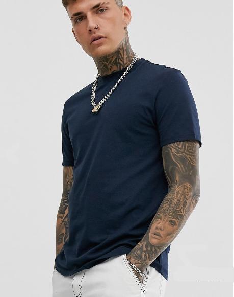 asos look ete homme decontracte t shirt uni noir coton lot pas cher