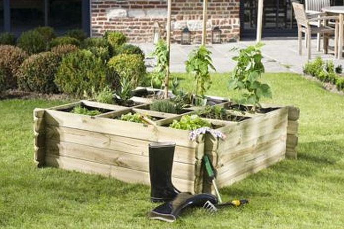 carre potager mobilier amenagement jardin exterieur materiel debutant bois