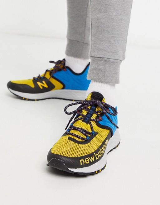 chaussure basket homme new balance vintage course courir jaune bleu asos tenue look ete 2020