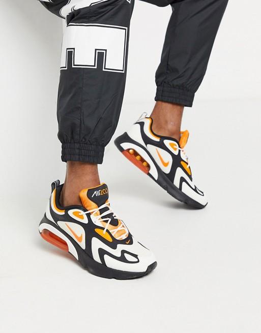 chaussure basket homme nike ete tenue look 2020 asos excentrique noir orange airmax 200