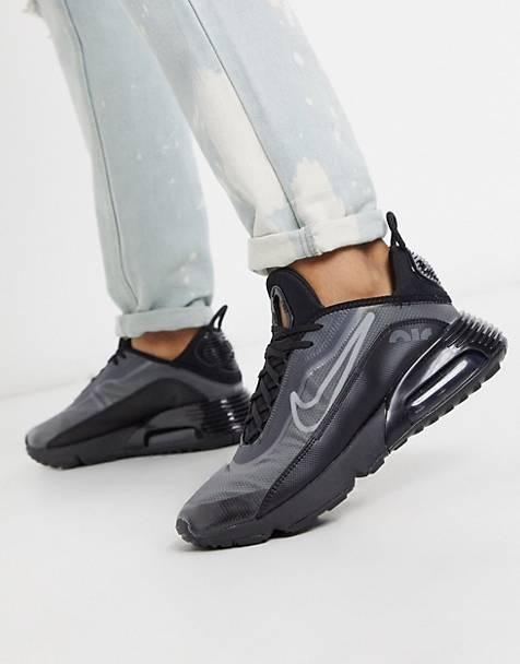 chaussure basket homme nike ete tenue look 2020 asos marque noir gris