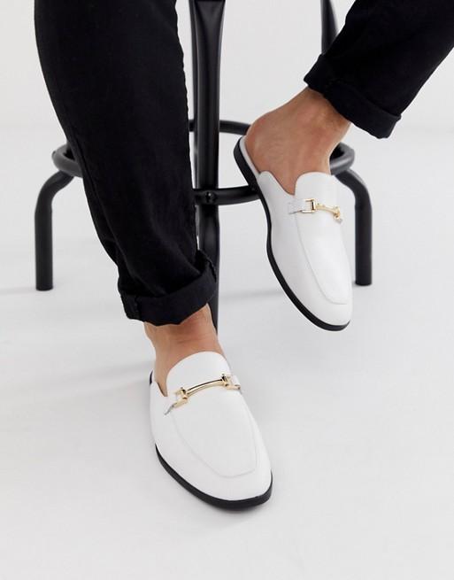 chaussure homme basket mocassin mule classe blanc or soiree ete tenue look 2020 asos
