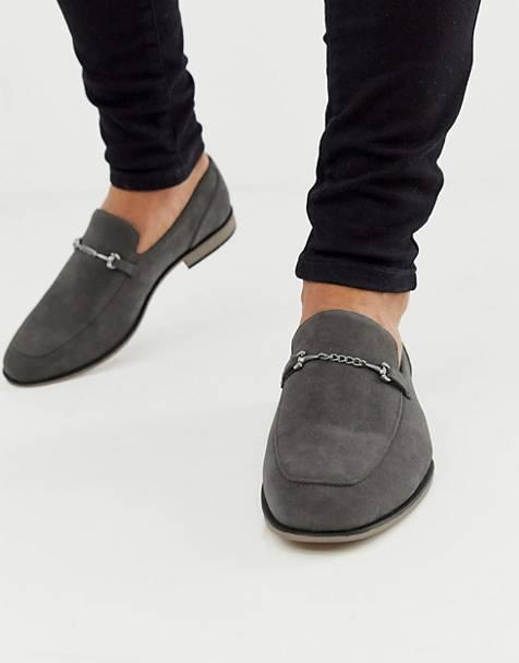 chaussure homme mocassin classe gris daim cuir asos tenue look ete 2020 soiree habillee