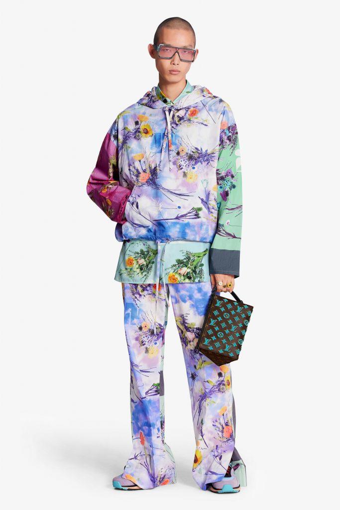 look homme luxe pop culture floral colore printemps ete 2020 louis vuitton