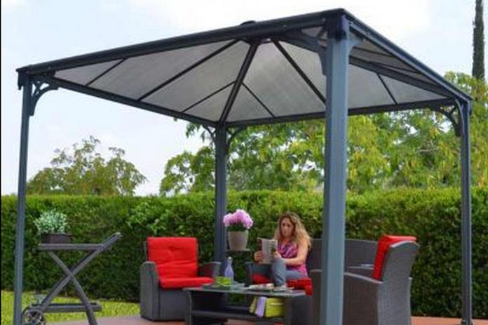 mobilier jardin amenagement exterieur tonnelle toile parasol