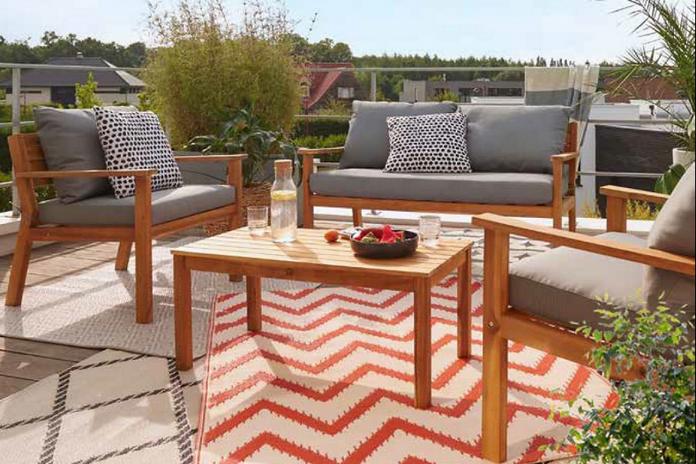 mobilier jardin salon chaise table amenagement exterieur