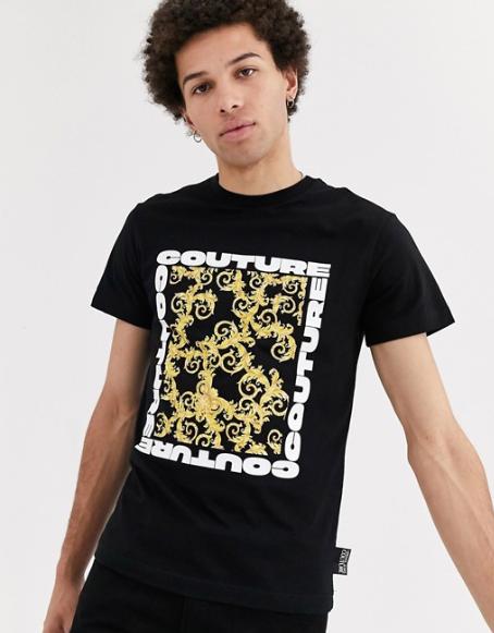 t shirt motif baroque versace couture excentrique look tenue homme asos 2020 ete