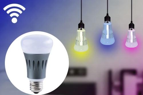 ampoule wifi luminaire lampe lumiere energie maison connectee connexion smartphone high tech