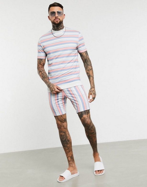 look homme durable ethique ecoresponsable asos ensemble 2020 ete short t shirt