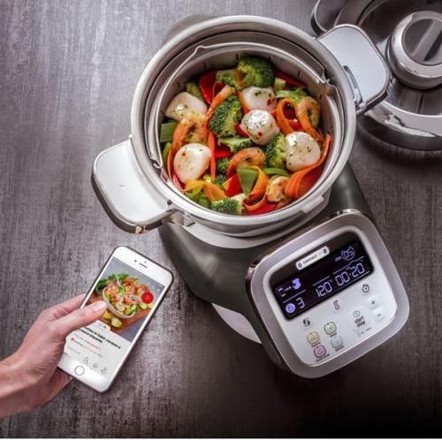 robot electromenager cuisine intelligent connexion wifi smartphone moulinex cuiseur maison connectee