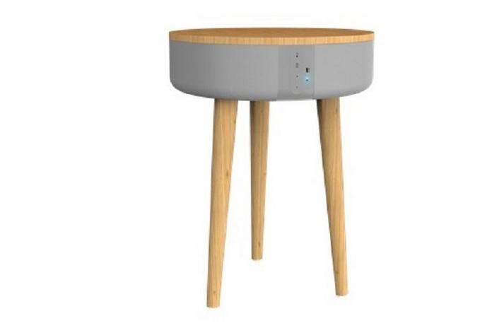 table chargeur induction mobilier high tech smartphone connexion maison connectee