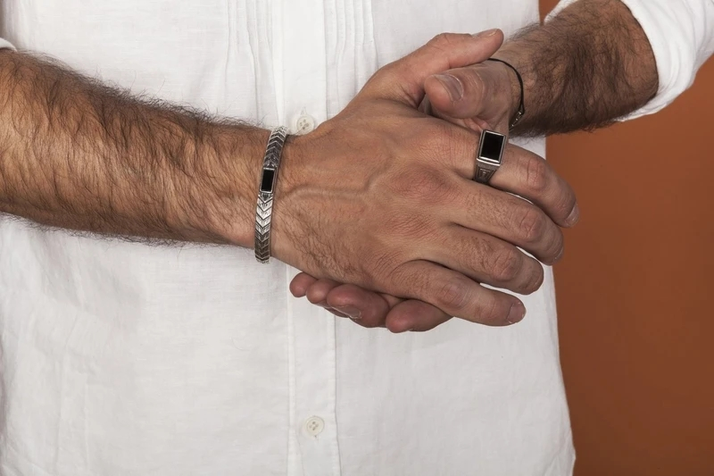 bague anneau argent or acier homme bijoux idee cadeau fete des peres papa garcon bijou accessoires