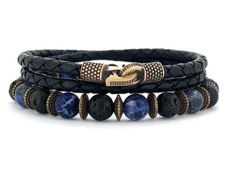 bracelet jonc cuir cordon acier argent bois homme bijoux idee cadeau fete des peres papa garcon bijou accessoires.jpg
