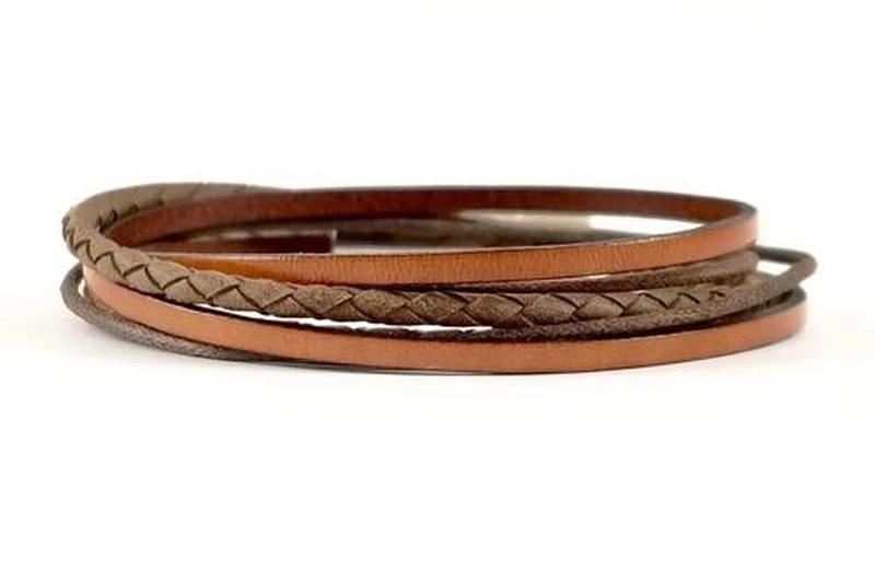 bracelet jonc cuir cordon acier argent bois homme bijoux idee cadeau fete des peres papa garcon bijou accessoires