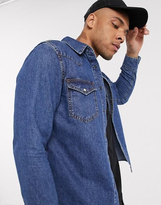 chemise jean veste look tenue inspire inspiration film cinema serie cinematographie outfit drive ryan gosling