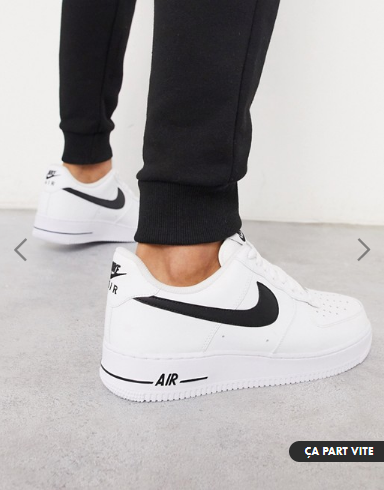 look style mode homme 2020 ete outfit tenue idee vetement chaussure basket blanche nike air force blanc asos