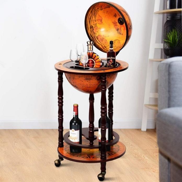 bar ancien vintage retro old school idee cadeau globe terrestre monde