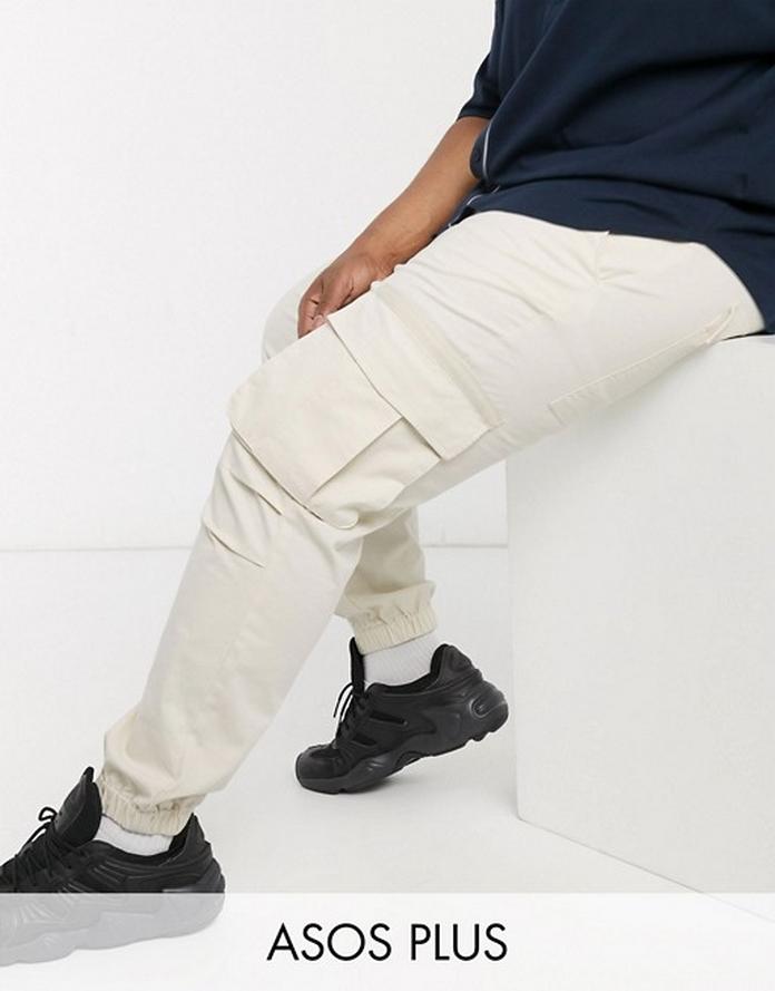look style tenue mode homme large xxl grande taille pantalon cargo poche blanc clair skate
