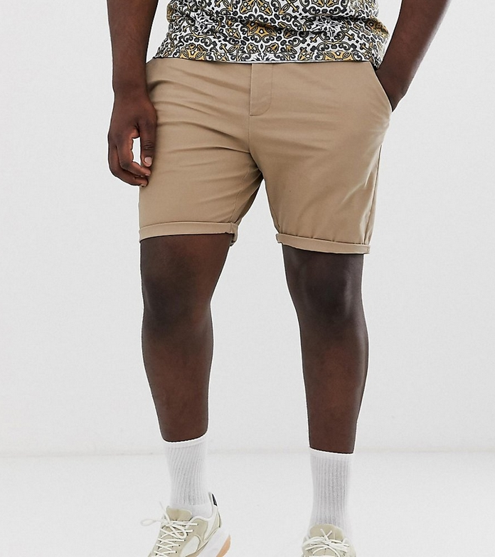 mode look homme xxl short morphologie ajuste chino beige marron classe decontracte lifestyle asos