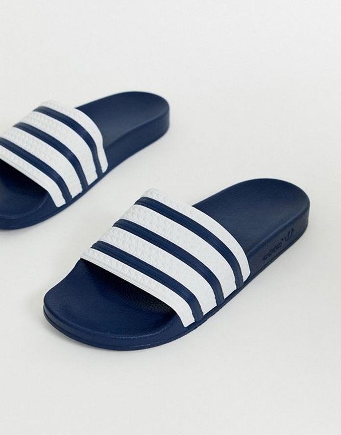 mule chaussure adidas look tenue vacances homme ete blog mode pas cher asos bleu