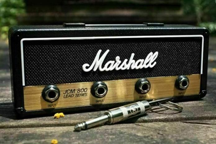accessoire musique decoration vintage marshall ampli porte cle musicien idee cadeau