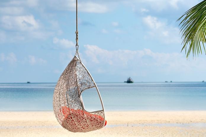 decoration plage marin tropical haiti siege fauteuil hamac bois flotte flottant mobilier