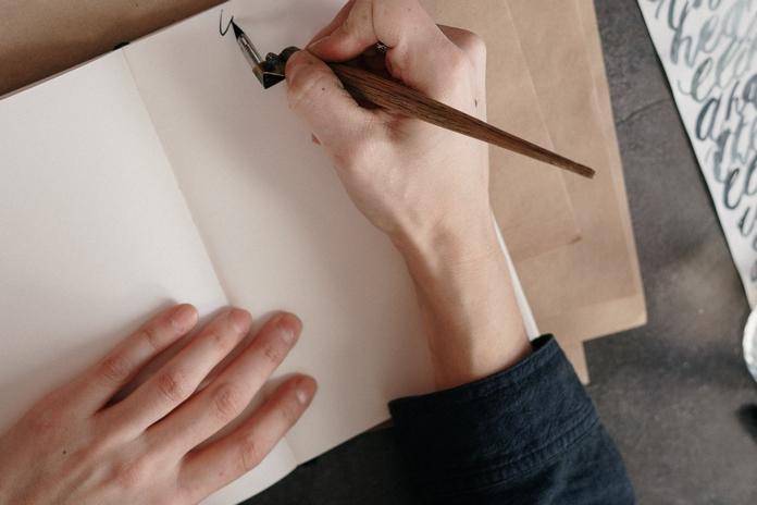 materiel accessoire calligraphie ecriture carnet cahier ancien exercice apprentissage professionnel pas cher