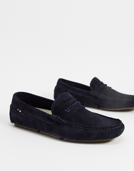 mocassin chaussure homme costume soiree bleu marine royal fonce navy
