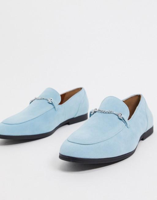 mocassin chaussure homme soiree costume bleu clair ciel pas cher