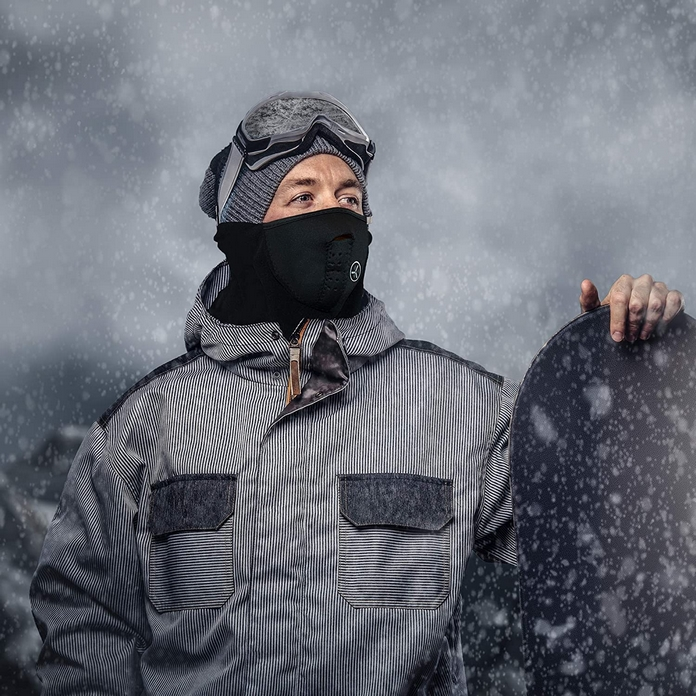 accessoire sport hiver cache nez froid protection