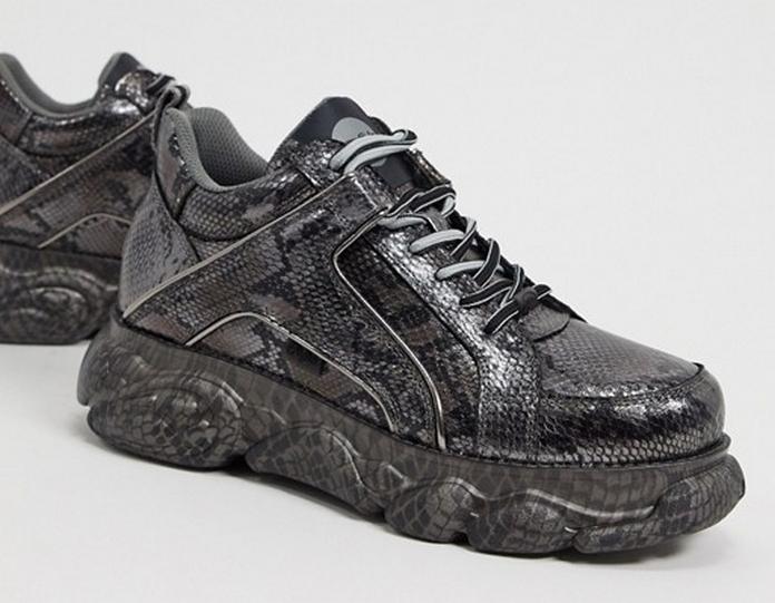 basket asos chaussure excentrique colore grosse semelle metal
