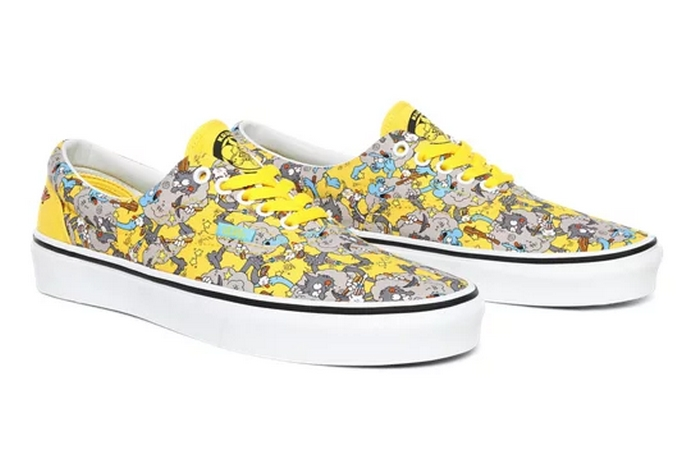 basket vans asos dessin anime simpson itchy scratchy jaune