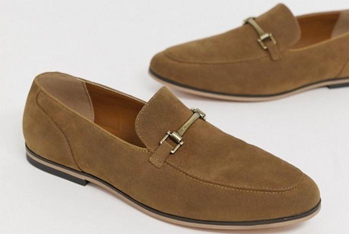 chaussure homme mocassin daim fauve marron asos 2020