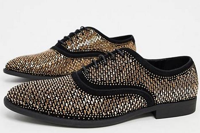 chaussure richelieu asos soiree noire brillant classe