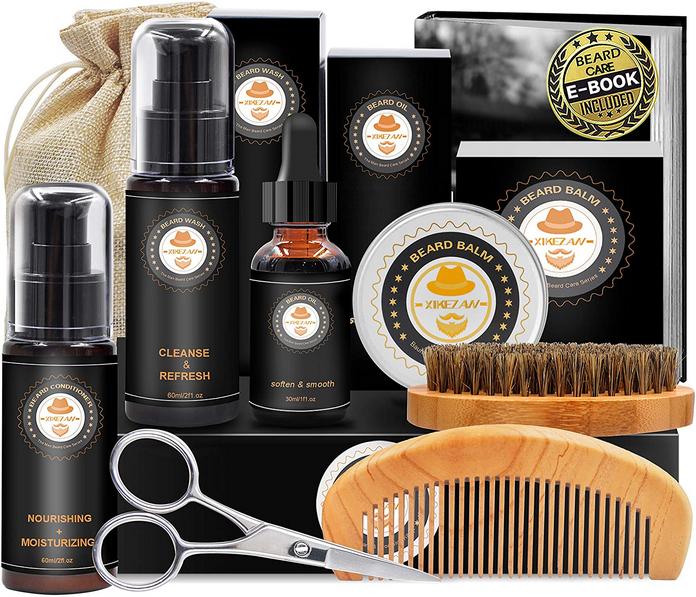 coffret à barbe adoucir soin baume shampoing