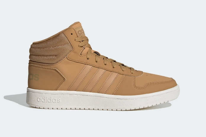 selection rentree chaussures baskets adidas montante beige