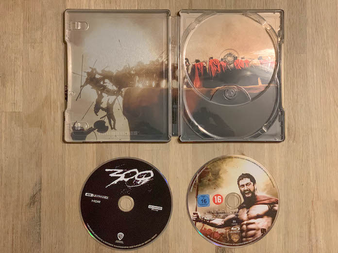 300 test bluray 4k steelbook disque