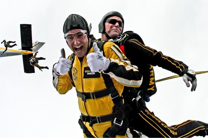 activite originale occupation seul saut parachute