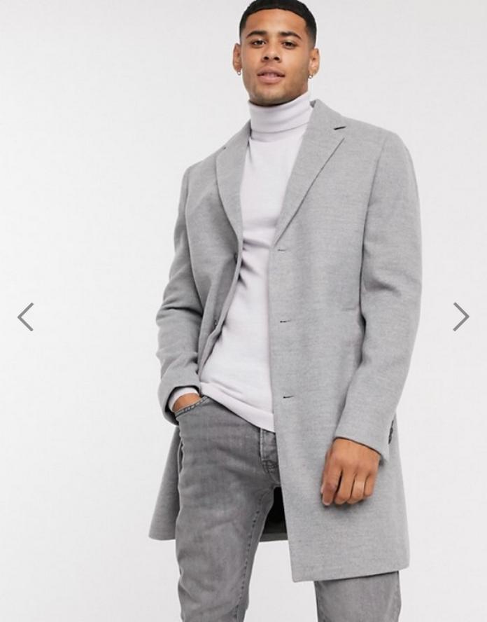 manteau homme mode ethique durable gris