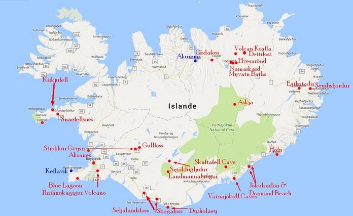 preparer voyage etranger itineraire islande