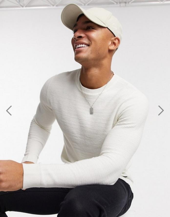 pull homme blanc texture chaud mode ethique durable