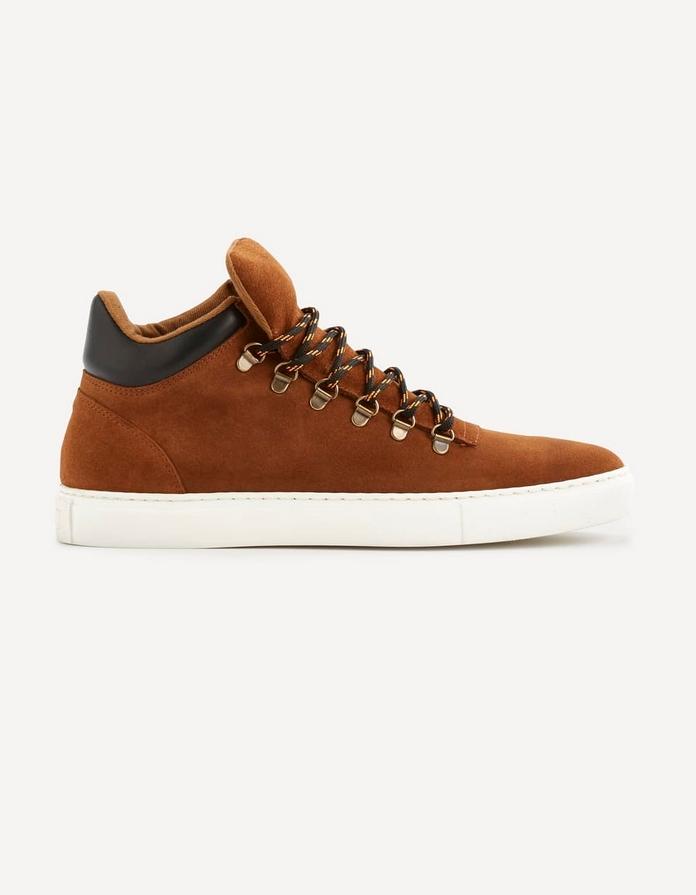 chaussure basket homme celio cuir marron