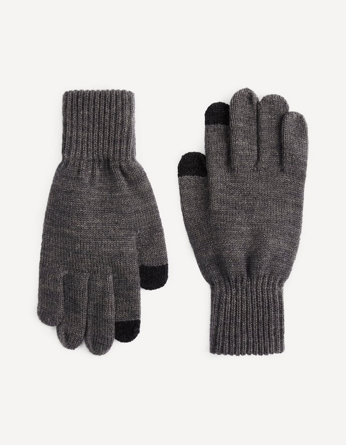 gant homme hiver laine tactile smartphone