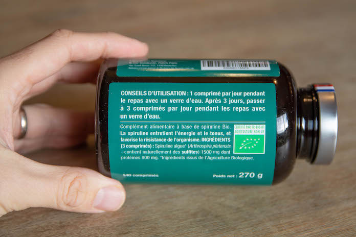 test avis nutrimea complement posologie spiruline