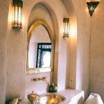 decoration dore or salle de bain maison